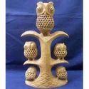 Wooden Owls Statue