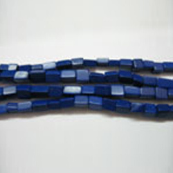 Blue Stone Square Synthetic Beads