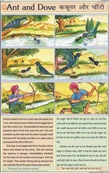 The Ant & The Dove For Moral Story Chart