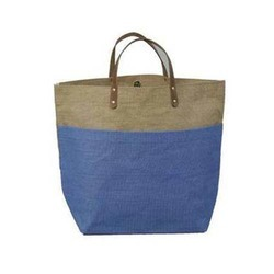 Jut Bag with Leather Handle