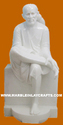 Hindu White Marble Shirdi Sai Baba Statue, Size/dimension: Standard Size, Size: 12 To 66 Inch