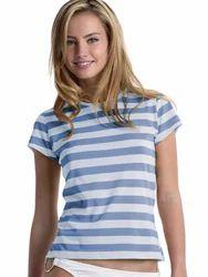 Female Horizental Stripe Jercy T-Shirts