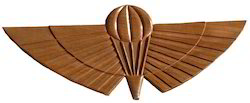 Walnut wood carved Wing