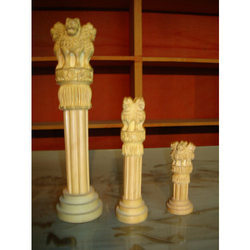 Wooden Ashok Stamp Pillar