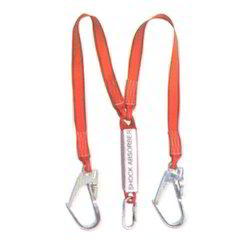 Twin Webbing Lanyard With Shock Absorber