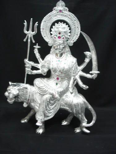 White Metal Murtis White Metal Durga Manufacturer From