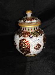 Hand Painted Marble Pot