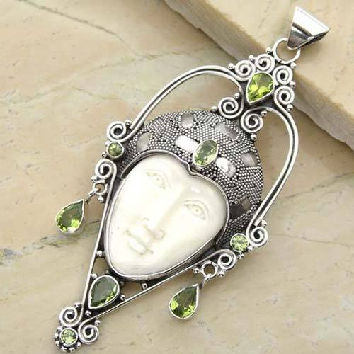 Face Pendant Bone face silver pendant rana silver arts exporter in tripolia bone face silver pendant audiocablefo