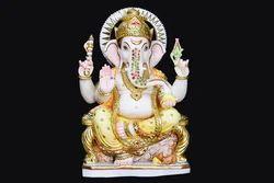 GA-4019 Marble Ganesha Statue