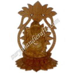 Wooden Flower Ganesha