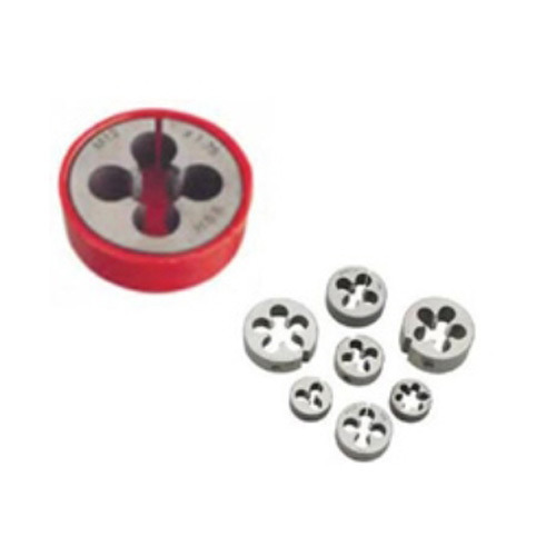 Ludhra Red & Silver Stainless Steel Round Dies