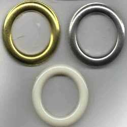 Golden Curtain Eyelets in Plastic and Brass, Packaging Type: Box