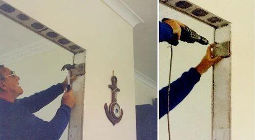 Door Frame Fixings - Pezcame.Com & Fix Door Jamb \u0026 How To Makeover Renovate An Internal Door Frame ... Pezcame.Com