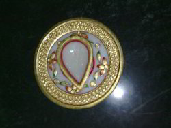 Marble Diya With Plate Marble Handicrafts