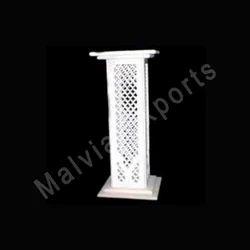 White Marble Pedestals