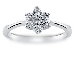 Classic Floral Diamond Ring