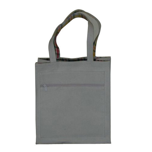 Natural Cotton Canvas Tote Bag With Zip Pocket Panther Uniforms