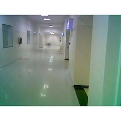 Industrial Grade Pharma Unit Corridor Epoxy Coating