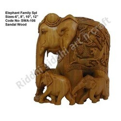 Sandalwood Elephant Family
