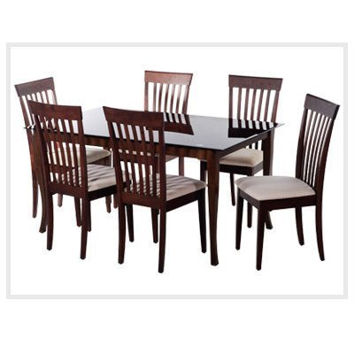Glass Wood Dining Table With dining room furniture - wooden dining table set manufacturer from