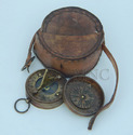 Pocket Compass with leather case