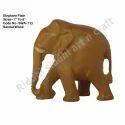 Natural Wood Color Handcarved Elephant Sculpture