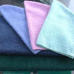 Embroidered Microfiber Hand & Face Towels