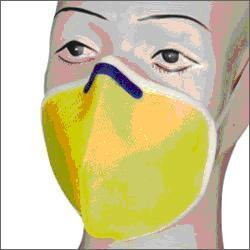 Washable Mask Yellow With Nose Clip