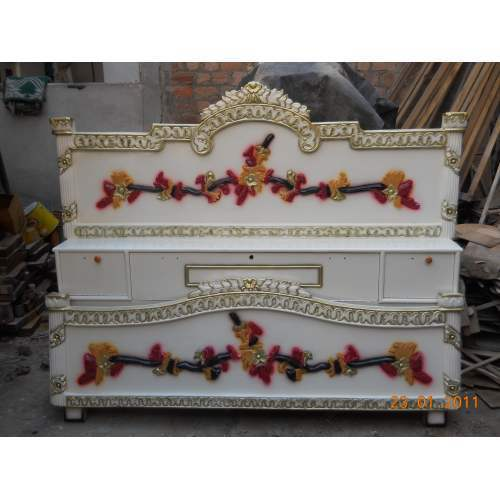 Deco Paint Double Bed. Wooden Double Bed   Teak Wood Double Bed Manufacturer from Jodhpur