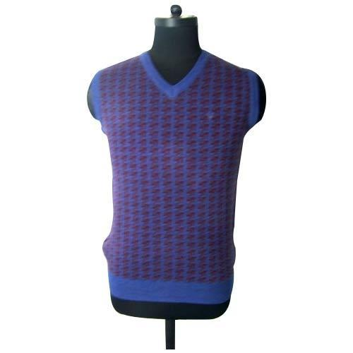 Checkered Acrowool Mens Grey Sleeveless Sweater Rs 450 Piece Id