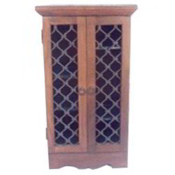 Iron Mesh Door Double CD Rack