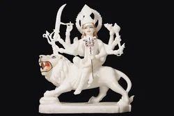 DU-0036 Marble Durga Mata Sculpture