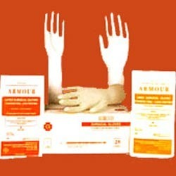 White Powder Free Latex Surgical Gloves