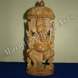 Sandalwood Umbrella Ganesha