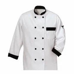 Chef Coat With Black Collar