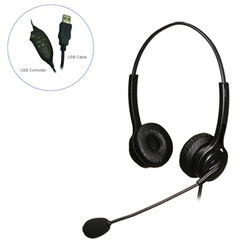 Hbj Wired Serai Double Sided Headset with USB Connection