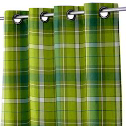 Airwill-Label Yarn Dyed Check Check Curtain, Size: 140 X 250 Cm