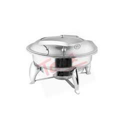 Round Glass Lid Chafing Dish With Fuel Burner