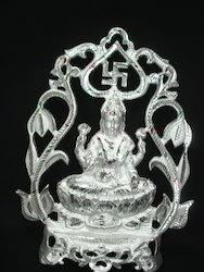 White Metal Laxmi Statue