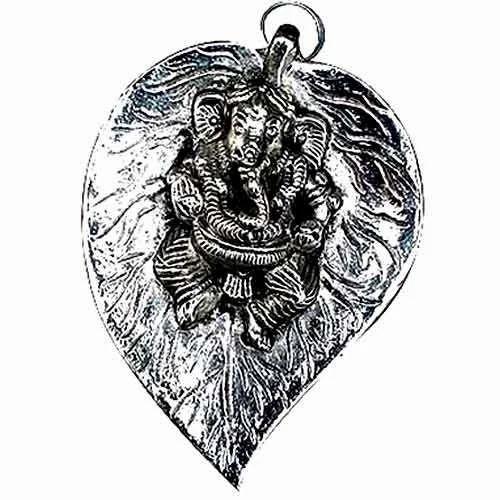 Decorative Ganesha Sculptures Lord Ganesha On Leaf