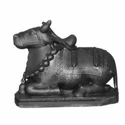 Polished Marble Nandi Statue