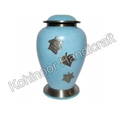 Blue Metal Urns