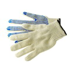 Knitted Dotted Working Gloves