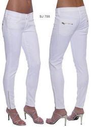 White Pencil Skinny Jeans