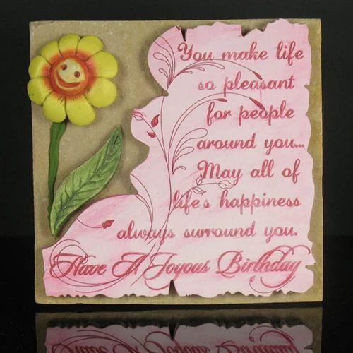 Birthday Quotation On Stone