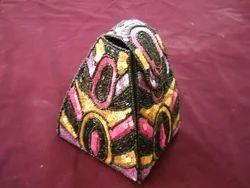 Multicolor Cotton Beaded Bag