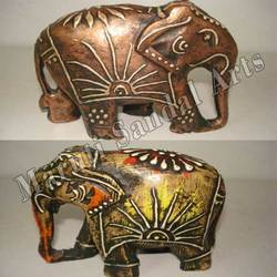 Copper Painting Wooden Elephant