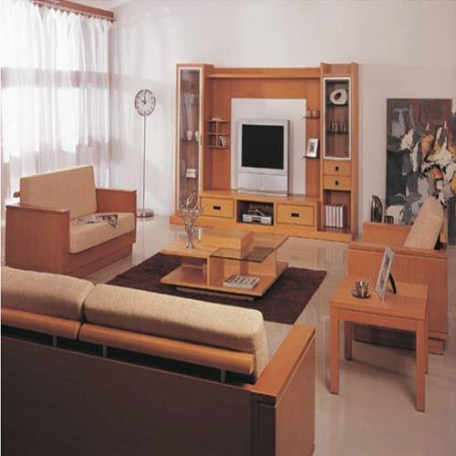Wooden tv stand trendz setter manufacturer in kirti for Wooden living room furniture