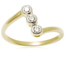 Three Stone Diamond Gold Rings