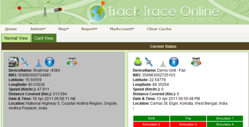Vehicle Tracking System (Tracktrace Online) - Fortuna Impex